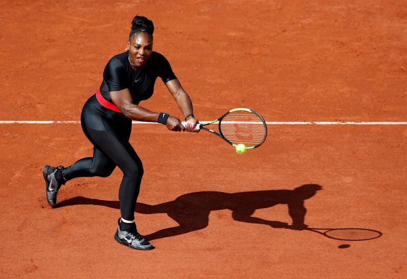 Serena Williams getting reacquainted with the player she knows best, herself