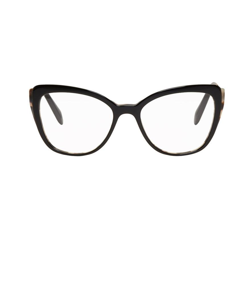 "<p>Black and gold cat-eye glasses, $360,<a href=""https://www.ssense.com/en-us/women/product/miu-miu/black-gold-cat-eye-glasses/2582548?utm_source=2687457_CPC&utm_medium=affiliate&utm_campaign=eyeglasses_nonsale&utm_term=CPC"" rel=""nofollow noopener"" target=""_blank"" data-ylk=""slk:ssense.com"" class=""link rapid-noclick-resp""> ssense.com</a> </p>"