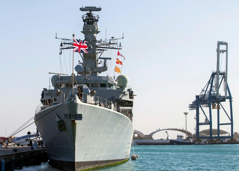 HMS Montrose is on a three-year deployment in the region since April