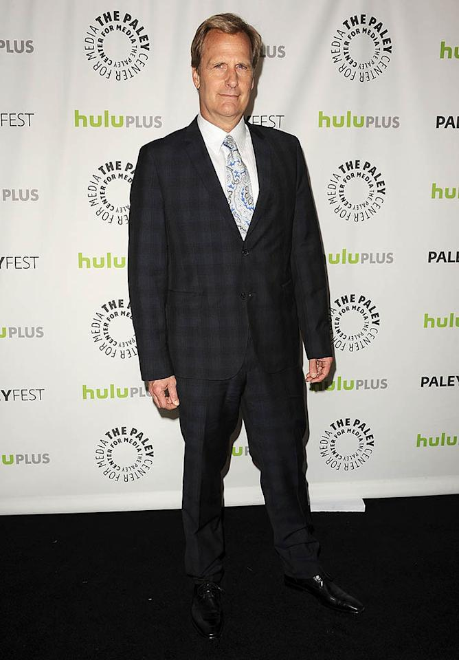 "Jeff Daniels attends the 30th annual PaleyFest featuring the cast of ""The Newsroom"" at the Saban Theatre on March 3, 2013 in Beverly Hills, California."