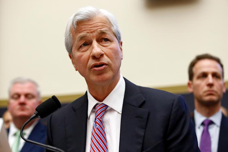 JPMorgan Chase chairman and CEO Jamie Dimon testifies before the House Financial Services Commitee during a hearing, Wednesday, April 10, 2019, on Capitol Hill in Washington. (AP Photo/Patrick Semansky)