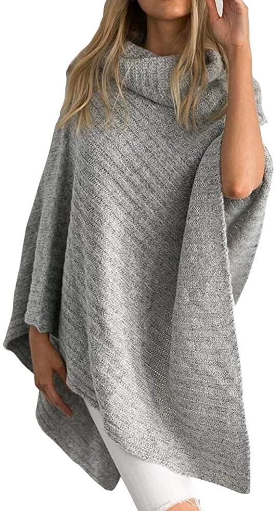 <p>Leave arms free with this swingy, asymmetrical <span>Jaeounr Knitted Poncho Turtleneck Sweater</span> ($27).</p>