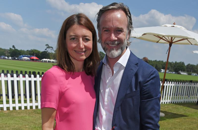 EGHAM, ENGLAND - JUNE 18: Jane Wareing (L) and Marcus Wareing attend the Cartier Queen's Cup Polo final at Guards Polo Club on June 18, 2017 in Egham, England. (Photo by David M Benett/Dave Benett/Getty Images)
