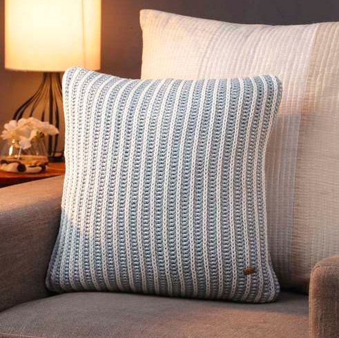 "This cotton <a href=""https://fave.co/2RwUZ3R"" rel=""nofollow noopener"" target=""_blank"" data-ylk=""slk:Line cushion cover by Pluchi"" class=""link rapid-noclick-resp""><strong>Line cushion cover by Pluchi</strong></a><strong>. </strong>Size: 16 X 16 inches. <em>Rs.550 on offer. </em><a href=""https://fave.co/2RwUZ3R"" rel=""nofollow noopener"" target=""_blank"" data-ylk=""slk:Buy here!"" class=""link rapid-noclick-resp""><strong>Buy here!</strong></a>"