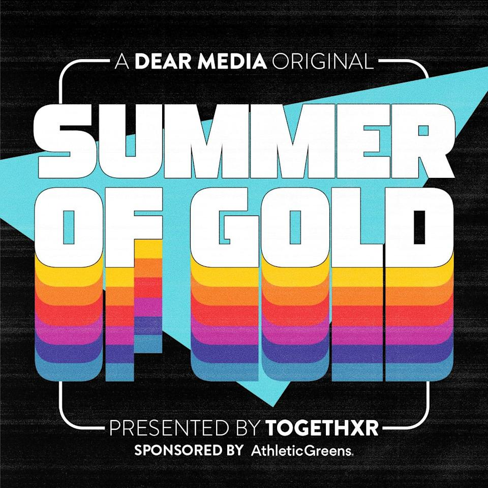 """The logo for """"Summer of Gold"""" a podcast presented by TOGETHXR, a sports and culture lifestyle company founded by a group of female athletes including Sue Bird."""