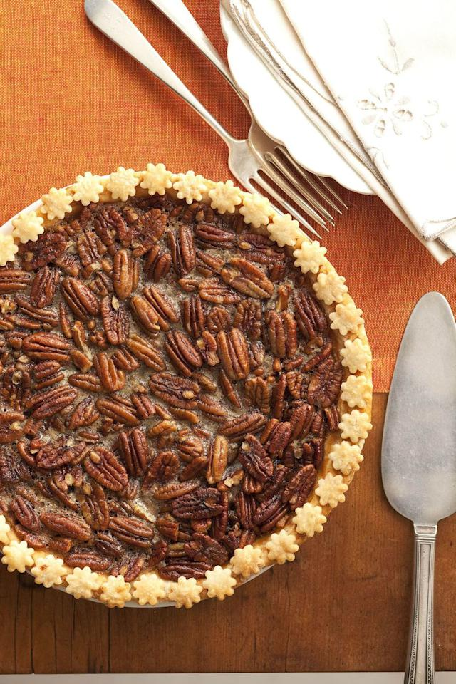"<p>This brown sugar pecan pie recipe is nothing short of delicious, but it's the adorable crust details that'll steal the show.</p><p><strong>Get the recipe at <a rel=""nofollow"" href=""https://www.goodhousekeeping.com/food-recipes/a14942/brown-sugar-pecan-pie-recipe-ghk1114/"">Good Housekeeping.</a></strong><br></p>"