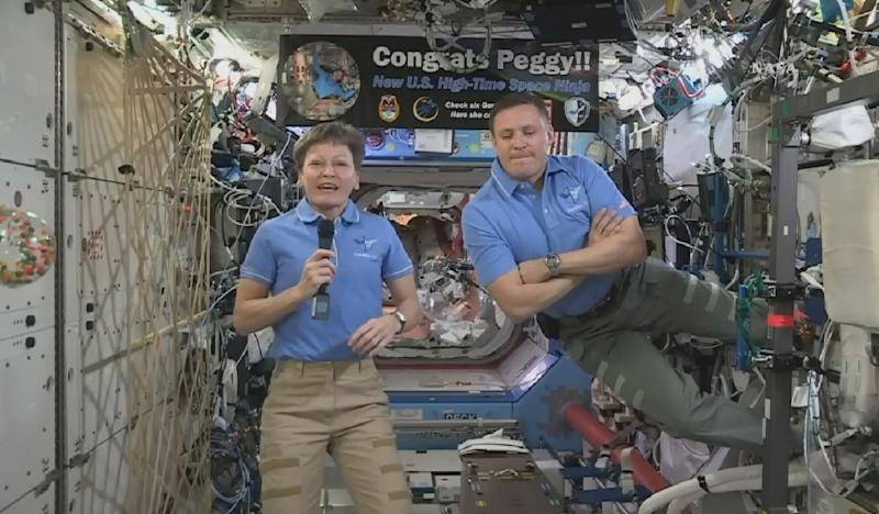 Record-breaking astronaut Peggy Whitson inspiring young Iowa students