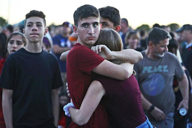 Students on Feb. 15, 2018, in Parkland, Fla. (Photo: Getty Images)