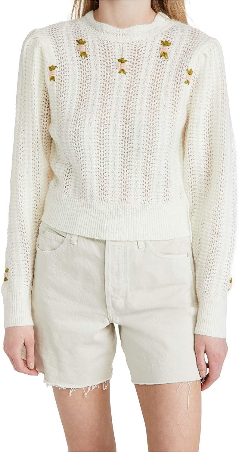 <p>Sweet little flowers planted themselves on this <span>ASTR the label Women's Taya Sweater</span> ($40-$55) and oh, does the style bloom long past springtime.</p>