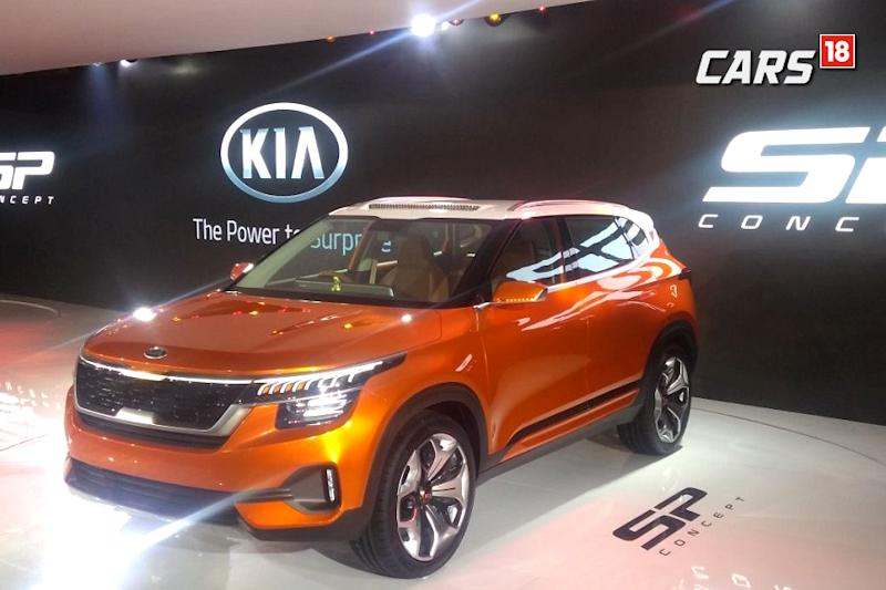 Kia SP Concept unveiled at Auto Expo 2018. (Image: Arjit Garg/News18.com)