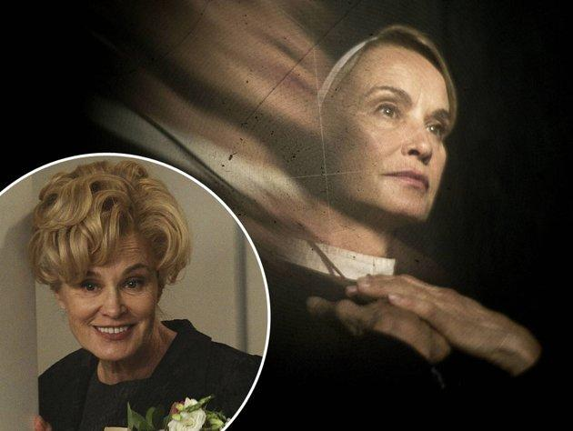 <b>Jessica Lange</b><br><br><b>You Know Her From:</b> Her Emmy-winning role as Season 1's Constance (inset), the Harmons' nosy neighbor with ties to the murder house. And oh yeah, she also has an illustrious film career highlighted by two Oscar wins.<br><br><b>Now She Plays:</b> Sister Jude, the nun who runs Briarcliff with an iron fist. She clashes with Dr. Arden and harbors some very impure thoughts about the Monsignor.