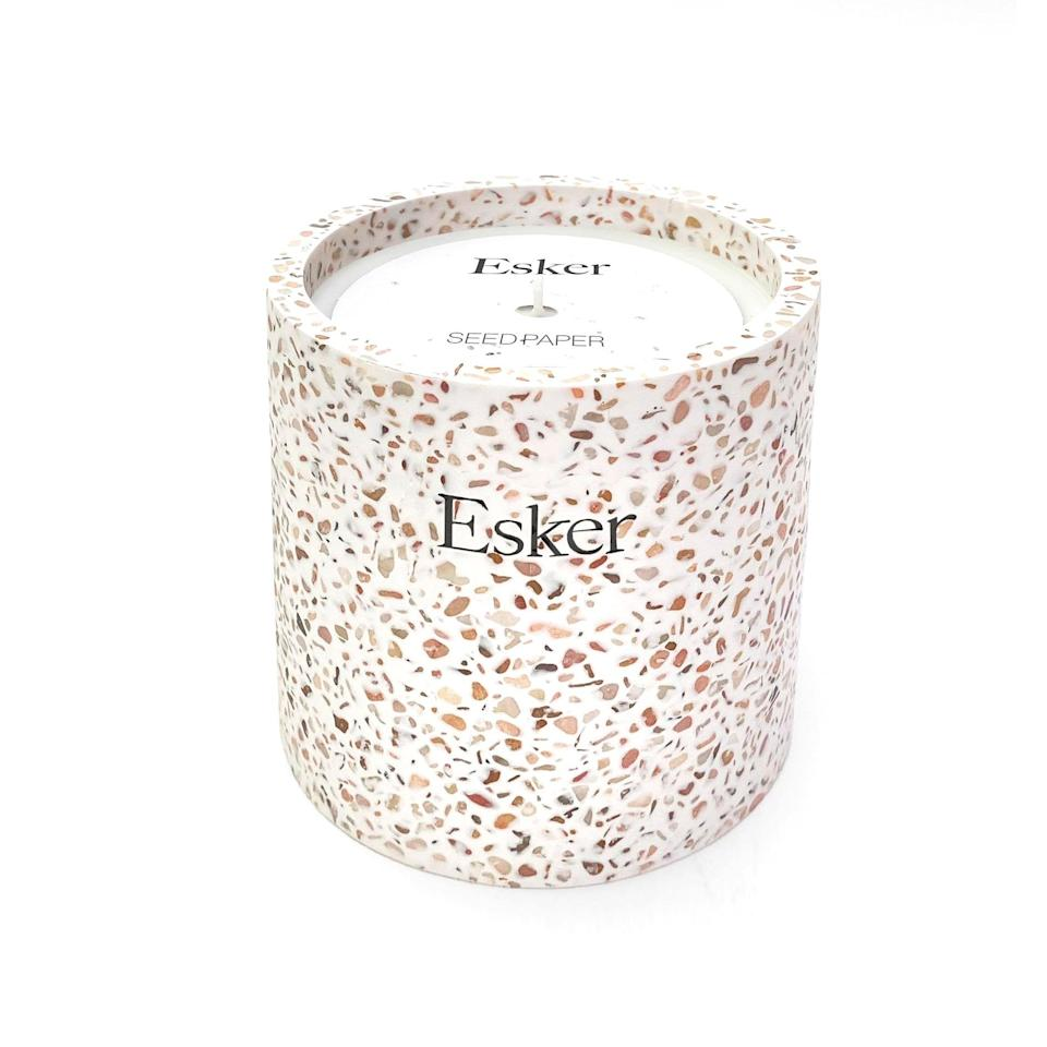 "<p>The gift that keeps on growing: When the Esker Plantable Candle burns down, empty the seeds and soil packet into the terrazzo vessel to start a stealthy herb garden with #shelfie potential.</p> <p><strong>$68</strong> (<a href=""https://fave.co/2Vbxqip"" rel=""nofollow noopener"" target=""_blank"" data-ylk=""slk:Shop Now"" class=""link rapid-noclick-resp"">Shop Now</a>)</p>"