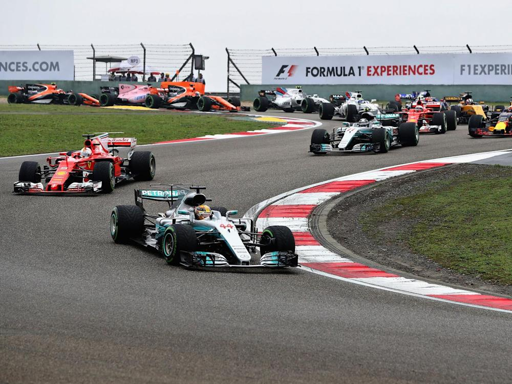 Sebastian Vettel saw his shot at Lewis Hamilton robbed by the safety car (Getty)