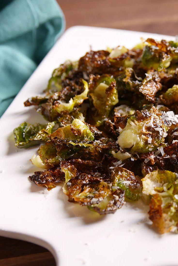 """<p>So much better than kale chips.</p><p>Get the recipe from <a href=""""https://www.delish.com/cooking/recipes/a49646/brussels-sprout-chips-recipe/"""" rel=""""nofollow noopener"""" target=""""_blank"""" data-ylk=""""slk:Delish"""" class=""""link rapid-noclick-resp"""">Delish</a>.</p>"""
