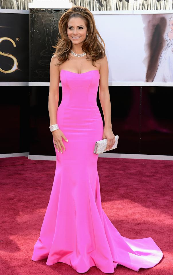 Maria Menounos arrives at the Oscars in Hollywood, California, on February 24, 2013.