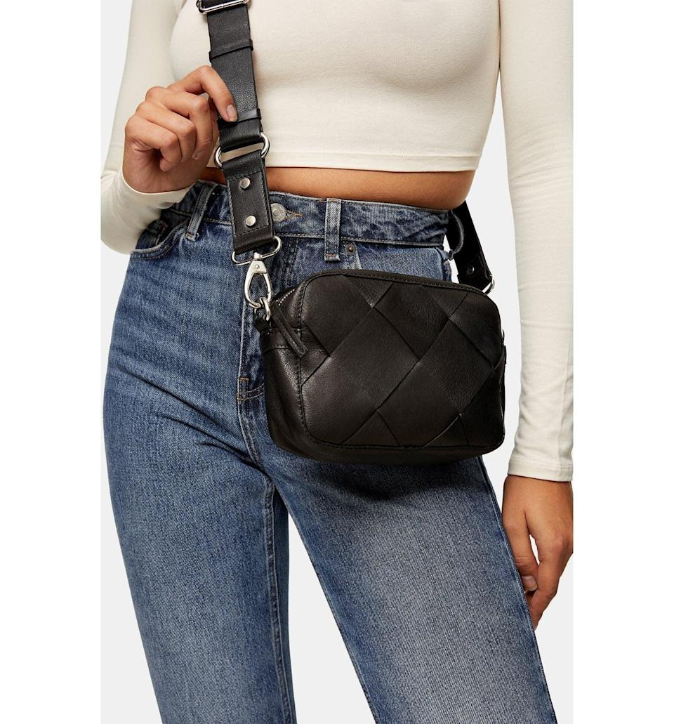 <p><span>Topshop Woven Leather Crossbody Bag</span> ($50, originally $75)</p>