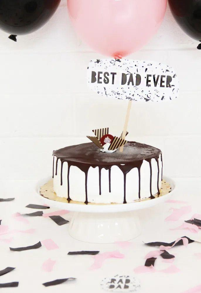 """<p><a href=""""https://www.thepioneerwoman.com/cakes-and-cupcakes/"""" rel=""""nofollow noopener"""" target=""""_blank"""" data-ylk=""""slk:Make a cake"""" class=""""link rapid-noclick-resp"""">Make a cake</a> and give it Father's Day flair with a sign that tells Dad he's the best ever! Dress up the scene with balloons and confetti.</p><p><strong>Get the tutorial at <a href=""""https://abubblylife.com/2016/06/fathers-day-cake-free-printables.html/"""" rel=""""nofollow noopener"""" target=""""_blank"""" data-ylk=""""slk:A Bubbly Life"""" class=""""link rapid-noclick-resp"""">A Bubbly Life</a>.</strong></p><p><a class=""""link rapid-noclick-resp"""" href=""""https://go.redirectingat.com?id=74968X1596630&url=https%3A%2F%2Fwww.walmart.com%2Fip%2FLatex-Balloons-Petal-Pink-9in-20ct%2F31985557%3FvariantFieldId%3Dactual_color&sref=https%3A%2F%2Fwww.thepioneerwoman.com%2Fholidays-celebrations%2Fg36333267%2Ffathers-day-activities%2F"""" rel=""""nofollow noopener"""" target=""""_blank"""" data-ylk=""""slk:SHOP BALLOONS"""">SHOP BALLOONS</a></p>"""