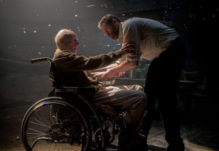 Sir Patrick Stewart and Hugh Jackman in 'Logan' (Credit: 20th Century Fox)