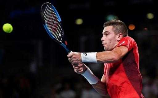 Borna Coric of Croatiawon his men's singles match against Dominic Thiem of Austria at the ATP Cup tennis tournament in Sydney