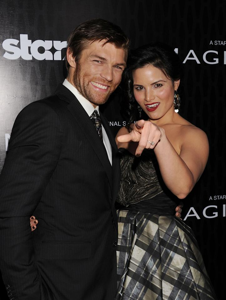 """Liam McIntyre and Katrina Law attend the Starz '<a target=""""_blank"""" href=""""http://tv.yahoo.com/magic-city/show/46996"""">Magic City</a>' Los Angeles Series Premiere at Directors Guild Of America on March 20, 2012 in Los Angeles, California."""