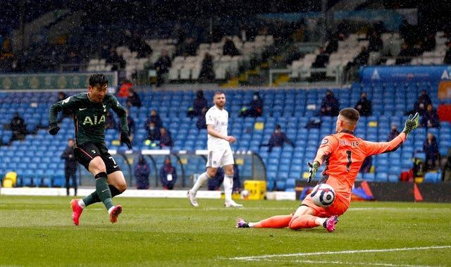 Son Heung-min slots home the equaliser for Spurs