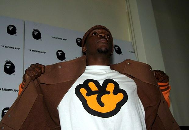 db30d886 Pusha-T at the A Bathing Ape store opening after-party in 2005.