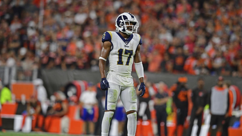 Los Angeles Rams wide receiver Robert Woods still was not back with the team on Thursday. (AP Photo/David Dermer)