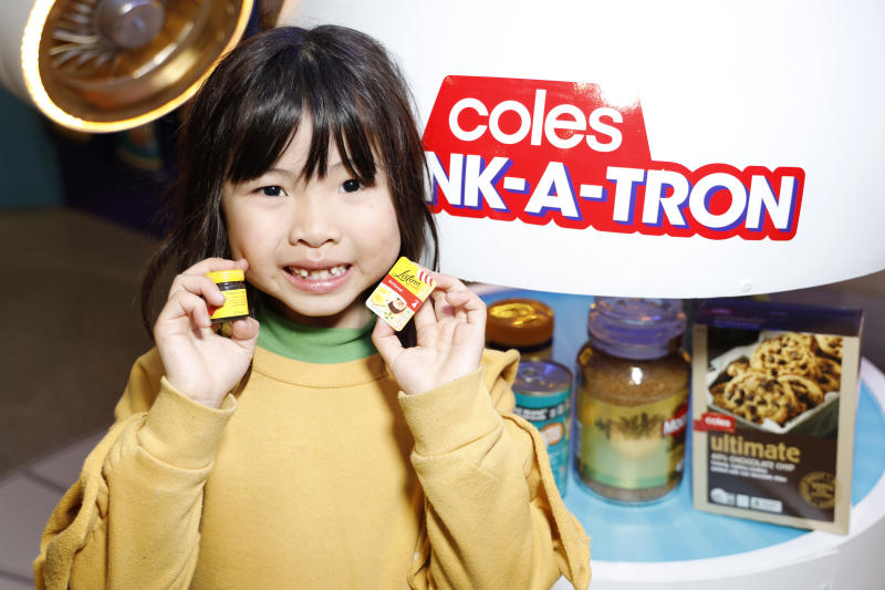 Ivy Luo poses with mini collectables at Westfield Eastgardens for the release of new Coles Little Shop mini collectables on July 13, 2019 in Sydney, Australia. Coles is releasing a new collection of 30 mini collectables of iconic supermarket products from Wednesday 17 July