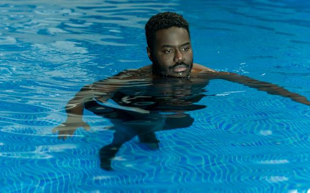Manny Mensah (Babou Ceesay) in the pool paid for by dirty money - 3