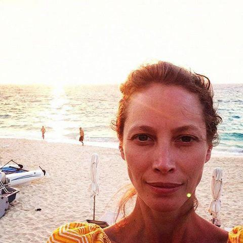 At 47, Turlington is glowing. No words.