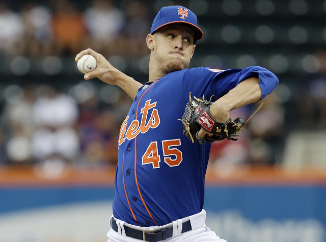 New York Mets' Zack Wheeler delivers a pitch during the first inning of a baseball game against the Atlanta Braves Thursday, July 25, 2013, in New York. (AP Photo/Frank Franklin II)