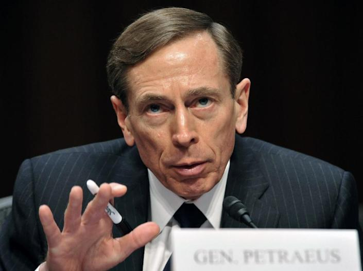 America's most prominent former military commander and spy chief, David Petraeus, pictured in Washington, DC, January 31, 2012, will plead guilty to illegally providing classified secrets to his mistress (AFP Photo/Karen Bleier)