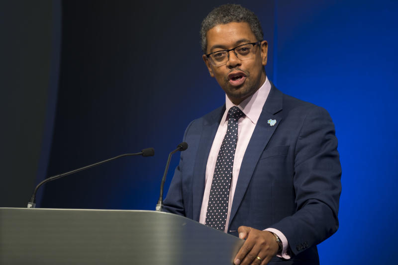 CARDIFF, UNITED KINGDOM - OCTOBER 03: Cabinet Secretary for Health and Social Services in the Welsh Assembly Vaughan Gething AM on October 3, 2019 in Cardiff, United Kingdom. (Photo by Matthew Horwood/Getty Images)
