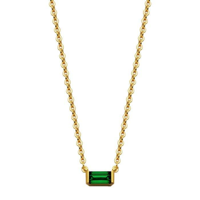 """<h2>May: Emerald</h2><br><strong>The Signs: Taurus & Gemini<br></strong><br>""""The vivid green of the emerald symbolizes spring and rebirth in many traditions,"""" explains Oldershaw — meaning it's a seasonally appropriate gem for those born in May. Moreover, she writes, the stone will almost always contain a swirl of tonal inclusions, which the French call the <em>jardin</em> (""""garden""""). With such special, singular properties and interior imperfections, it's perfect for both a luxury-loving Taurus and a complicated Gemini.<br><br><br><strong>Helzberg Diamonds</strong> Lab-Created Emerald Pendant in 10K Yellow Gold, $, available at <a href=""""https://go.skimresources.com/?id=30283X879131&url=https%3A%2F%2Fwww.helzberg.com%2Femerald-pendant-2504738%2F"""" rel=""""nofollow noopener"""" target=""""_blank"""" data-ylk=""""slk:Helzberg Diamonds"""" class=""""link rapid-noclick-resp"""">Helzberg Diamonds</a>"""