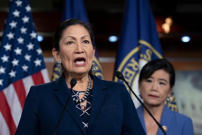 Deb Haaland, a second-term congresswoman from New Mexico, may soon become the first Native American to be secretary of the Interior, a position that traditionally has held negative sway over Indian country. Native activists are hopeful Haaland's confirmation leads to changes for the nearly 600 federal tribes across the United States.