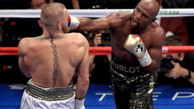 McGregor and Mayweather. Image: Getty