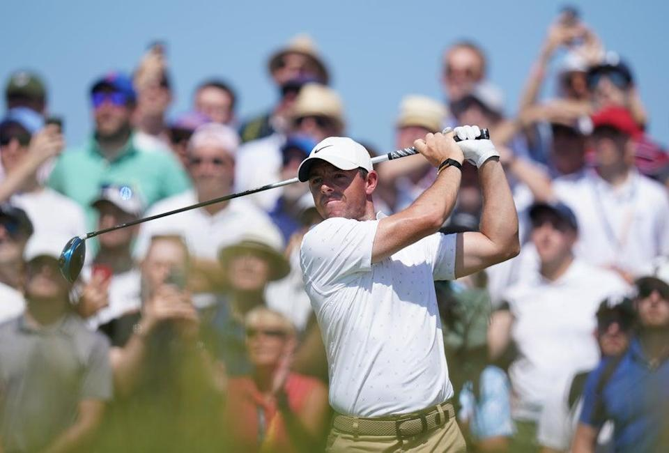 Northern Ireland's Rory McIlroy has a share of the lead (Gareth Fuller/PA) (PA Wire)