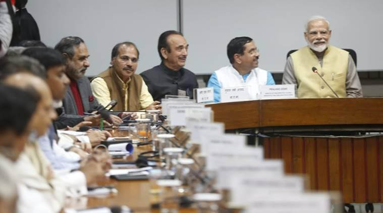 All party meet, PM Modi on All party meet, CAA protests, citizenship act, Congress om CAA, union budget 2020, nirmala sitharaman, Indian express