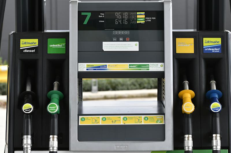 Fuel prices seen at BP petrol station in Forestville ,Sydney Australia on 10th March 2020. Petrol price could drop to $1 per litre in Sydney as world oil prices slumped overnight amid a price war between Oil producers and coronavirus impacts market. (Photo by Izhar Khan/NurPhoto via Getty Images)