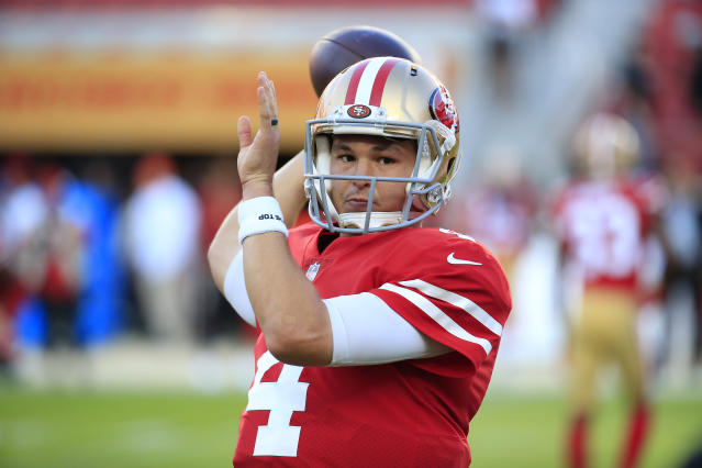 Nick Mullens got a call from Brett Favre after Thursday night's game. (Getty Images)