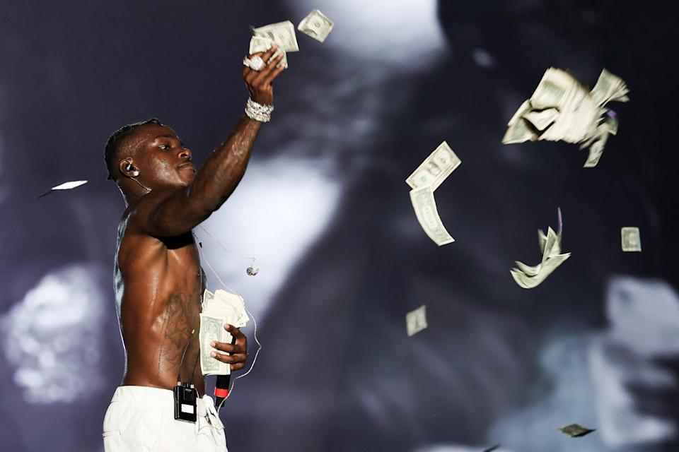 File image: DaBaby performs on stage during Rolling Loud at Hard Rock Stadium in 2021 (Getty Images)