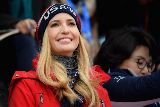<p>Ivanka Trump attends the Snowboard – Men's Big Air Final on February 24, 2018 in Pyeongchang-gun, South Korea. Ivanka Trump is on a four-day visit to South Korea to attend the closing ceremony of the PyeongChang Winter Olympics. (Photo by Carl Court/Getty Images) </p>