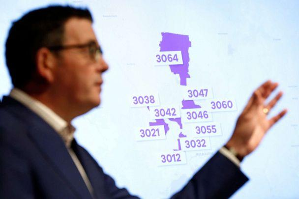 PHOTO: Victorian Premier Daniel Andrews speaks to the media in Melbourne, Australia, on June 30, 2020. (Darrian Traynor/Getty Images)