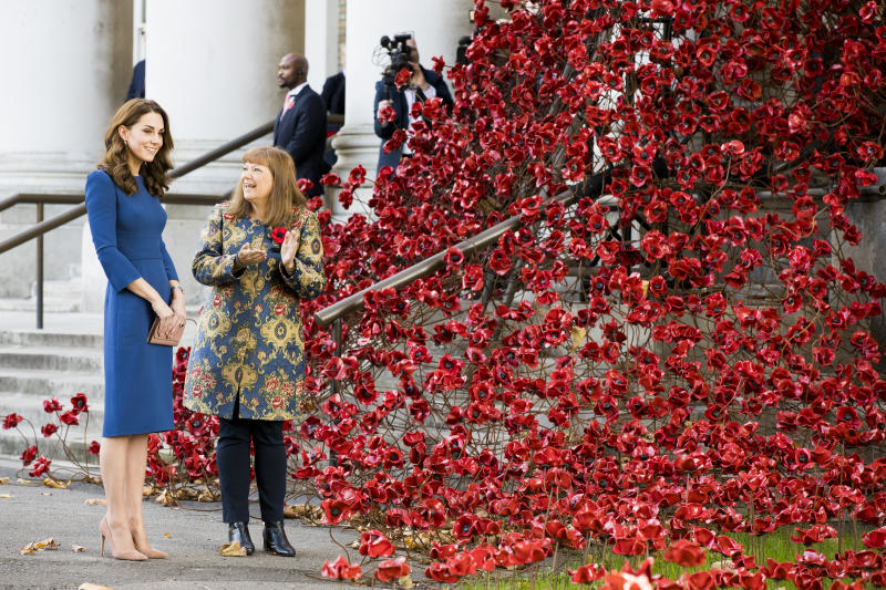 Kate Middleton wears Jenny Packham to Imperial War Museum