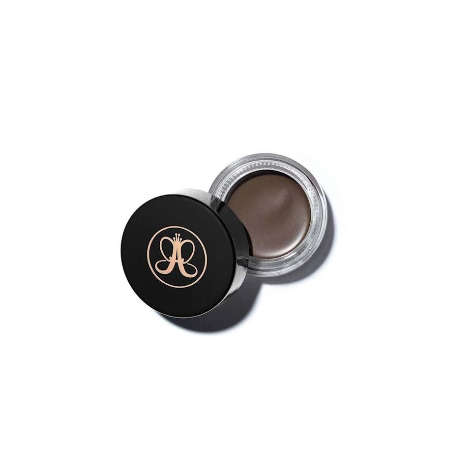"""This pomade is, hands-down, the <a href=""""https://www.glamour.com/gallery/best-eyebrow-products?mbid=synd_yahoo_rss"""" rel=""""nofollow noopener"""" target=""""_blank"""" data-ylk=""""slk:best eyebrow product"""" class=""""link rapid-noclick-resp"""">best eyebrow product</a> for definition, thickness, and keeping all your little hairs in place (or out of place if that's the look you're going for). If you want super precise arches, you can create straight, highly-pigmented lines that do <em>not</em> budge; if you want something more natural and bushy, just brush the pomade up and against the direction your hair grows—instant (almost) Brooke Shields. —<em>Shanna Shipin, commerce editor</em> $21, Anastasia Beverly Hills Dipbrow. <a href=""""https://shop-links.co/1695763719562375933"""" rel=""""nofollow noopener"""" target=""""_blank"""" data-ylk=""""slk:Get it now!"""" class=""""link rapid-noclick-resp"""">Get it now!</a>"""
