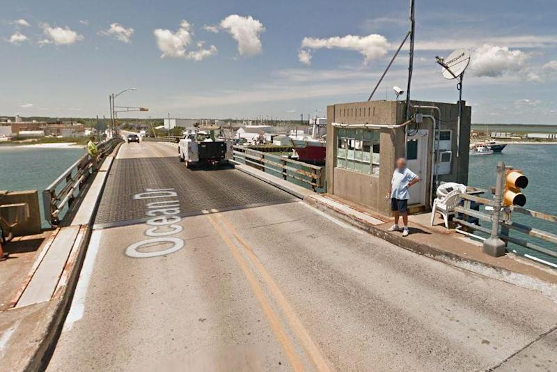 The bridge's operator is thought to have been blinded by sunlight (Google Street View)