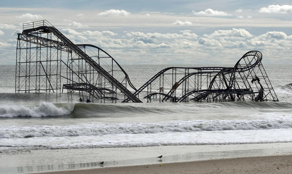 The remnants of a roller coaster