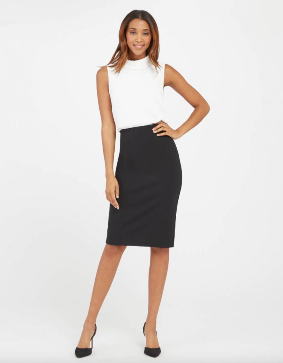 Spanx 'The Perfect Pant' Pencil Skirt in Black (Photo via Spanx)