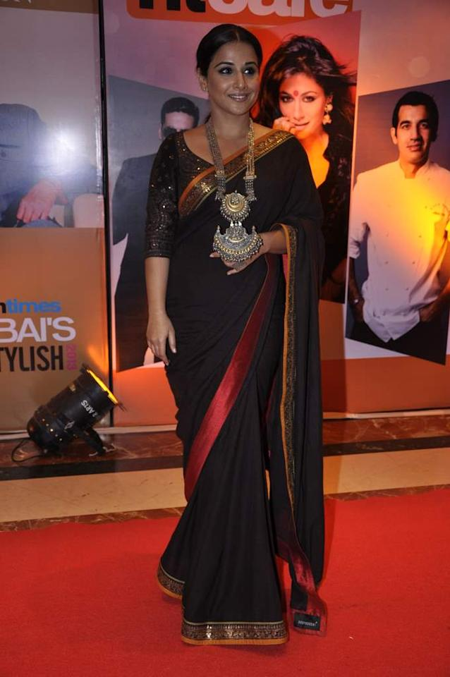 That is one seriously heavy duty piece of jewellery around Vidya Balan's neck! Right?