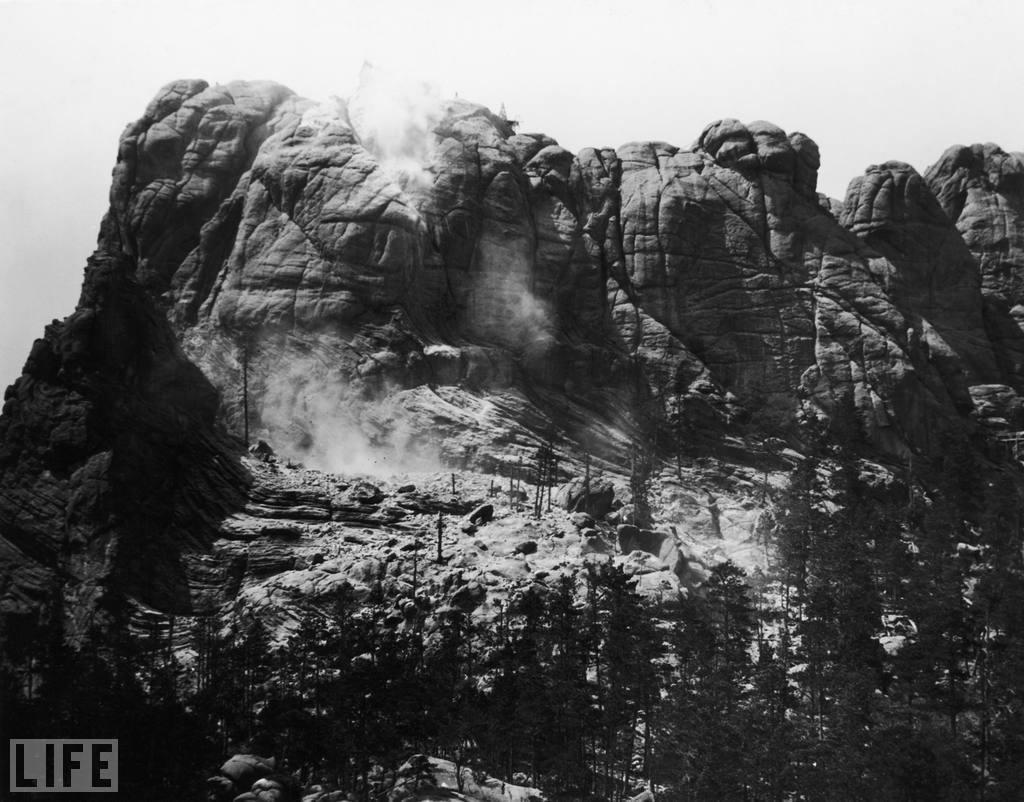 Historian Doane Robinson originally envisioned the sculptures carved into the Needles area of the Black Hills, but backed down from that idea due to the poor quality of the granite and strong opposition from environmentalists and Native American groups. Working with sculptor Gutzon Borglum, the two settled on the Mount Rushmore location, the tallest mountain in the region, which also has the advantage of facing southwest for maximum sun exposure. October 31 marks the 70th anniversary of Mount Rushmore's completion. Photo: FPG/Getty Images